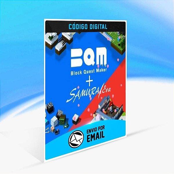 BQM - BlockQuest Maker + SAMURAI ERA.  - Xbox One Código 25 Dígitos