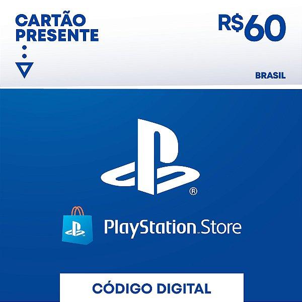 Cartão Presente Playstation Store R$60 REAIS - BRASIL