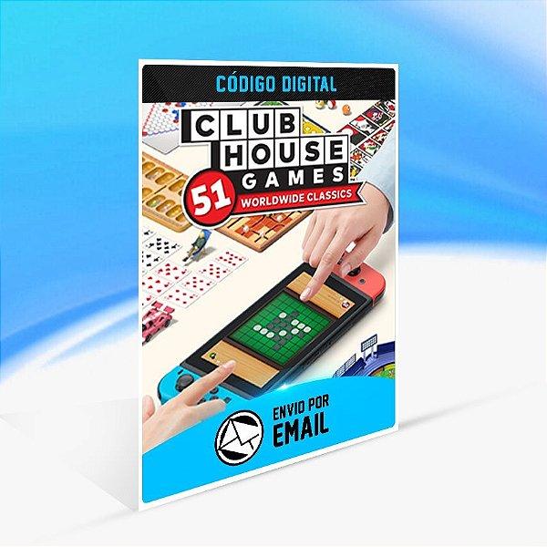 Clubhouse Games™  51 Worldwide Classics - Nintendo Switch Código 16 Dígitos