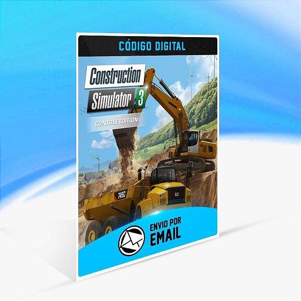 Construction Simulator 3 - Console Edition - Xbox One Código 25 Dígitos