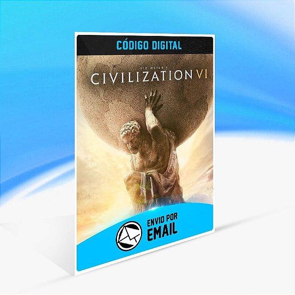 DLC Civilization VI Pacote de Expansão -  Nintendo Switch Código 16 Dígitos