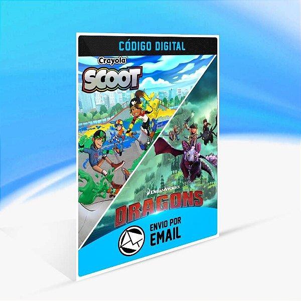 Dreamworks Dragons Dawn of New Riders and Crayola Scoot - Xbox One Código 25 Dígitos