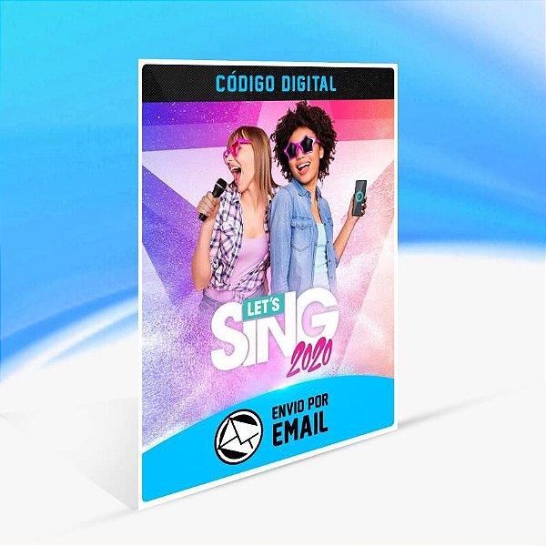 Let's Sing 2020 - Xbox One Código 25 Dígitos