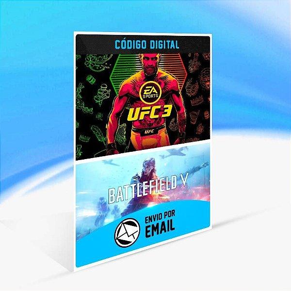 Pacote BATTLEFIELD V & EA SPORTS™ UFC® 3 - Xbox One Código 25 Dígitos