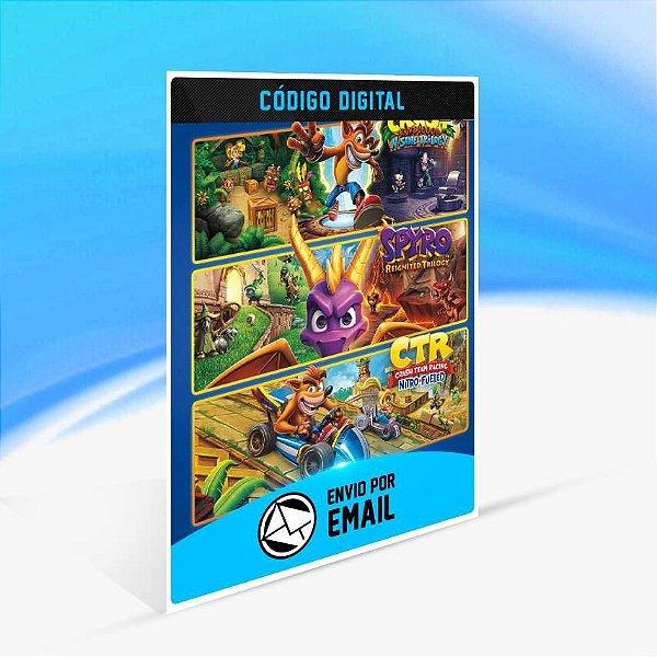 Pacote Triplo Crash™ + Spyro™ - Xbox One Código 25 Dígitos