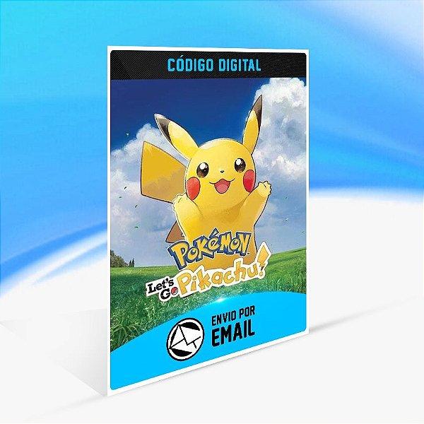 Pokémon Let's Go, Pikachu! - Nintendo Switch Código 16 Dígitos