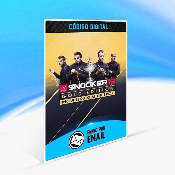 Snooker 19 Gold Edition - Xbox One Código 25 Dígitos