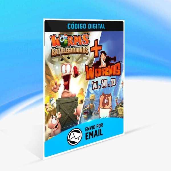 Worms Battlegrounds + Worms W.M.D - Xbox One Código 25 Dígitos