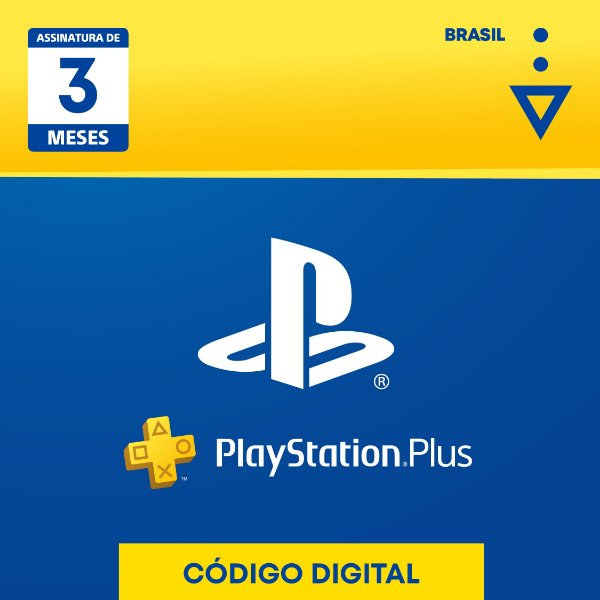 PlayStation Plus: 3 Meses de Assinatura - Digital [Exclusivo Brasil]