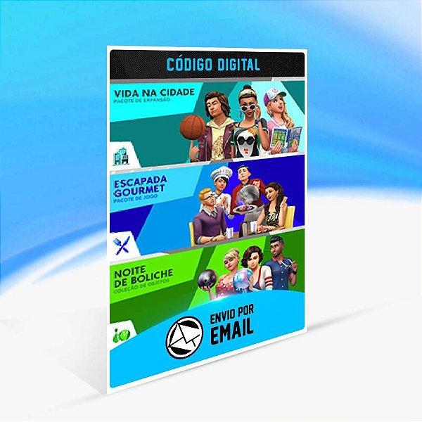 The Sims 4 Bundle - Vida na Cidade, Escapada Gourmet, Noite de Boliche Coleção de Objetos ORIGIN - PC KEY
