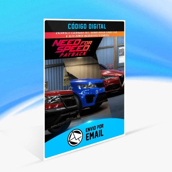 Need for Speed Payback: Conjunto do Chevrolet Colorado ZR2, Range Rover Sport SVR e Alfa Romeo Quadrifoglio ORIGIN - PC KEY