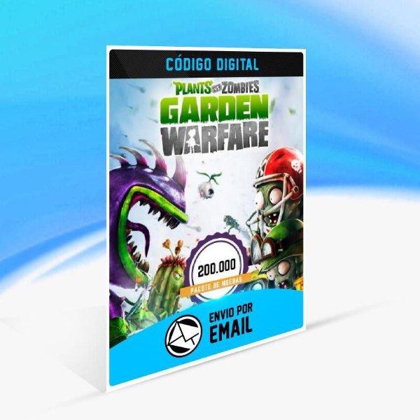 Pacote de 200.000 moedas do Plants vs. Zombies Garden Warfare ORIGIN - PC KEY