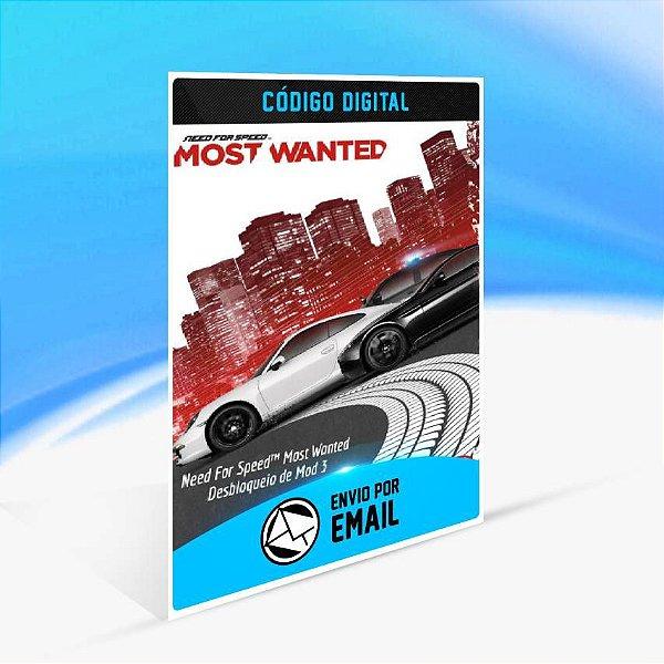Need For Speed Most Wanted Desbloqueio de Mod 3 ORIGIN - PC KEY