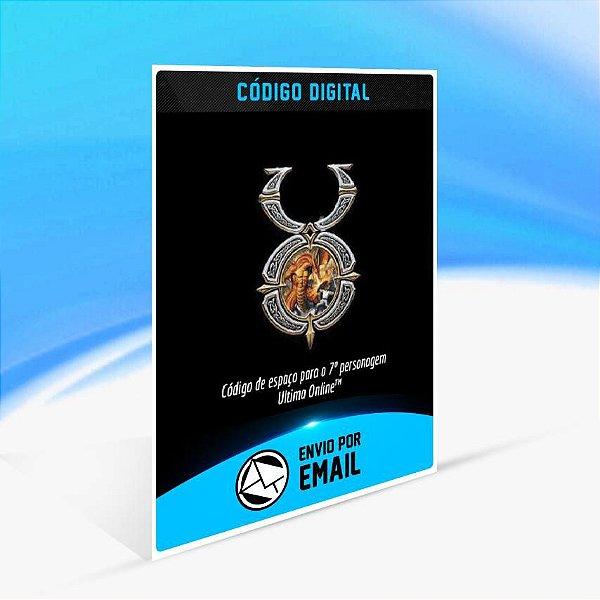 Código de espaço para o 7º personagem Ultima Online ORIGIN - PC KEY