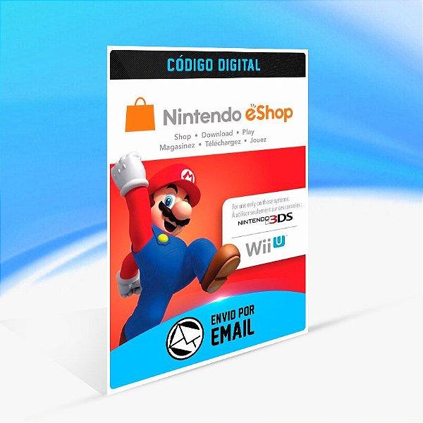 CARTÃO NINTENDO ESHOP CANADA SWITCH / WII U / 3DS $50 DÓLARES
