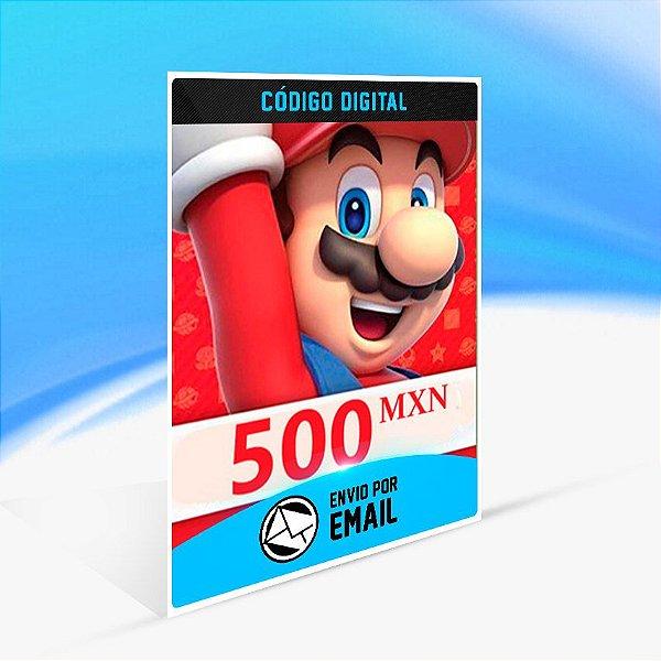 CARTÃO NINTENDO ESHOP MEXICO SWITCH / WII U / 3DS 500 MXN