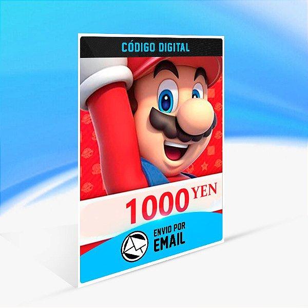 CARTÃO NINTENDO ESHOP JAPÃO SWITCH / WII U / 3DS 1000 YEN