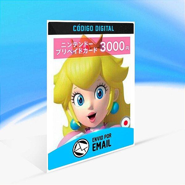 CARTÃO NINTENDO ESHOP JAPÃO SWITCH / WII U / 3DS 3000 YEN