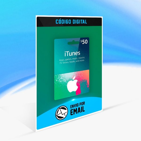 ITUNES GIFT CARD $50 DÓLARES