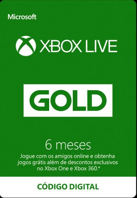 Xbox Live Gold - 06 meses