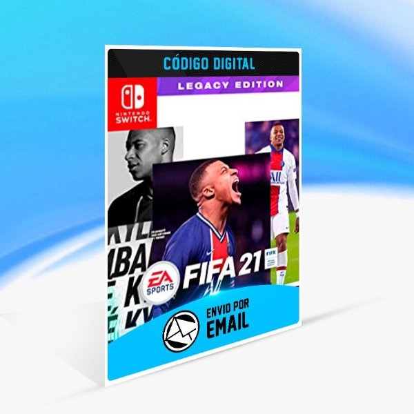 FIFA 21 Nintendo Switch Edição Legacy - Nintendo Switch Código 16 Dígitos