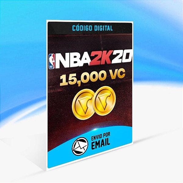 15000 VC - NBA 2K20 - Nintendo Switch Código 16 Dígitos
