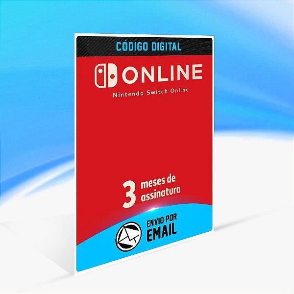 Assinatura individual de 3 meses (90 dias) - Nintendo Switch Código 16 Dígitos