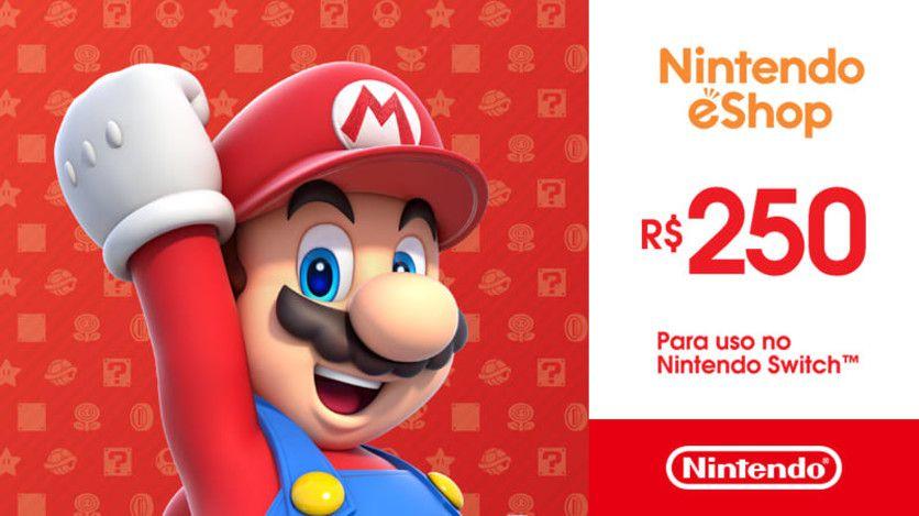 Nintendo - Gift Card Digital 250 Reais