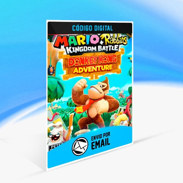 Mario + Rabbids Kingdom Battle: Donkey Kong Adventure DLC - Nintendo Switch Código 16 Dígitos