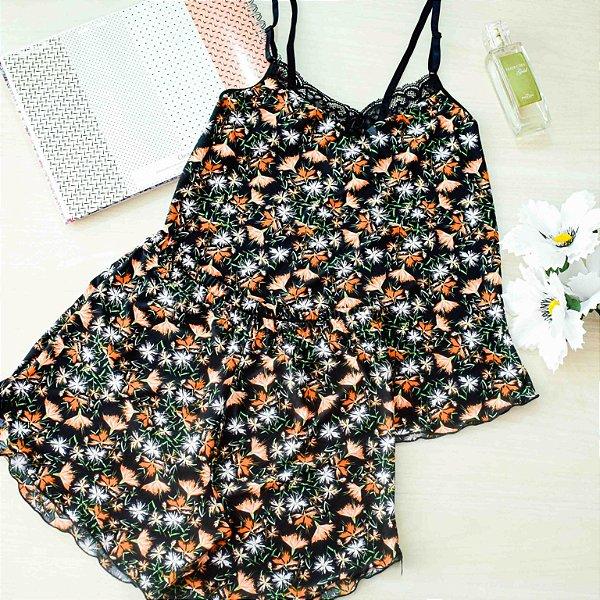 Pijama Liganete Grace Estampado Preto