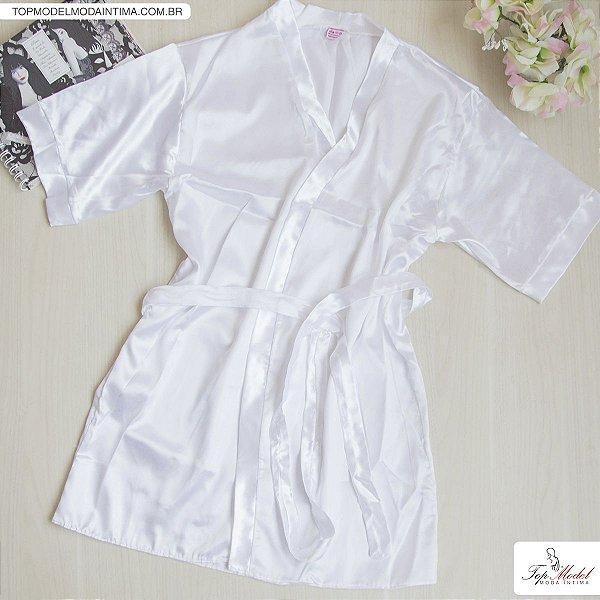 Robe em Cetim Branco