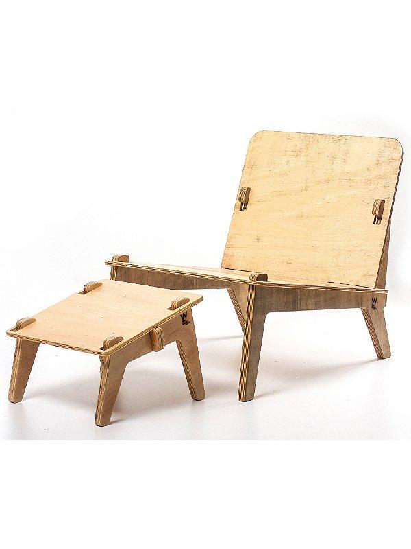 Cadeira Netuno com Banquinho Inclinado Galles
