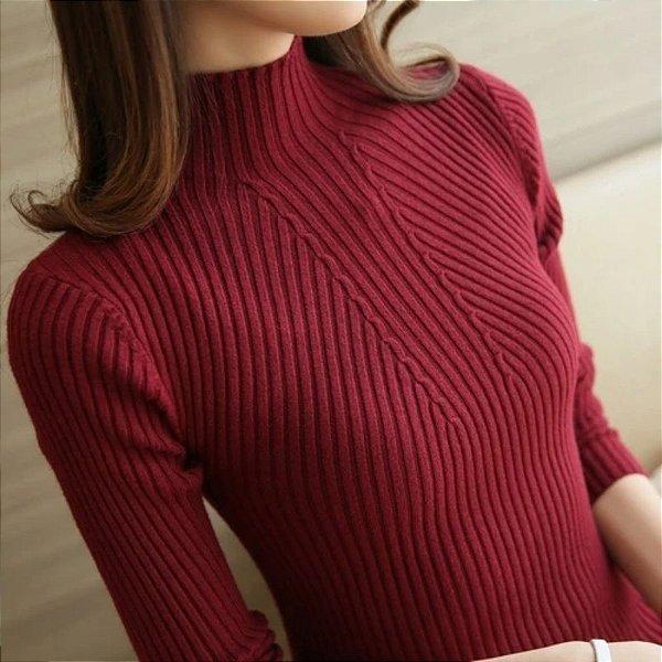 Suéter Canelado Basic - 5 cores