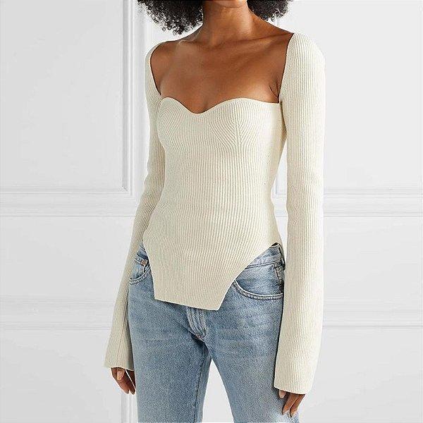 Blusa White Sweater