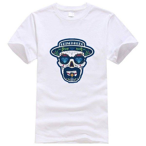 T-shirt Masculina Heisenberg Branca