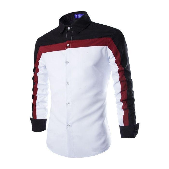 Camisa Masculina Contraste Vinho