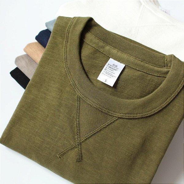 Camiseta Masculina Detalhe Frontal - 6 cores