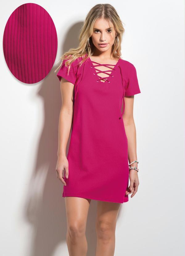 Vestido com Amarração Pink