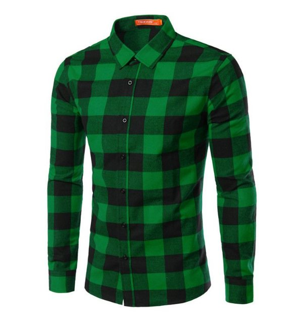 Camisa Masculina Quadriculada Verde