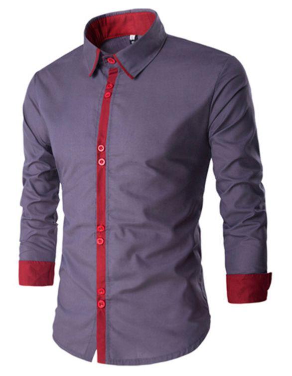 Camisa Masculina Minimal Cinza