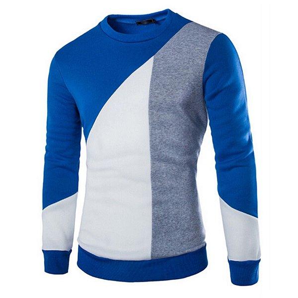 Suéter Masculino Slim Fit - Azul