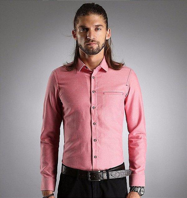 Camisa Masculina Details Rosa
