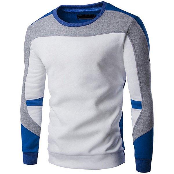 Suéter Masculino Recortes - Branco