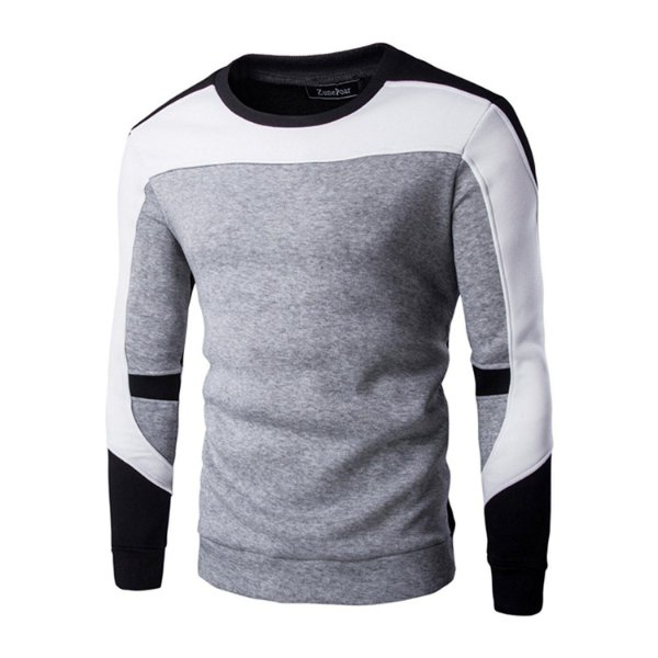 Suéter Masculino Recortes - Cinza