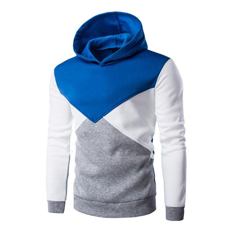 Moletom Masculino Geométrico - Azul