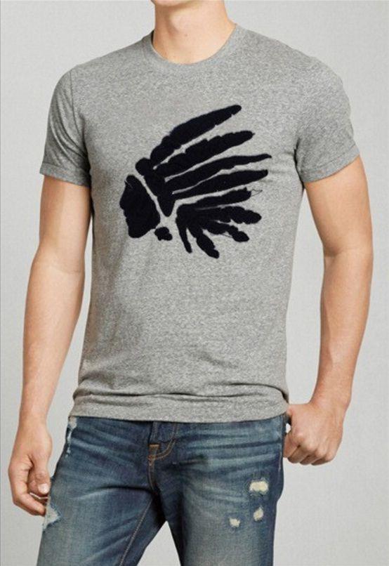 T-Shirt Masculina Básica Índio - Cinza