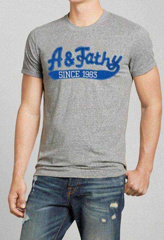 T-Shirt Masculina - Cinza com Azul