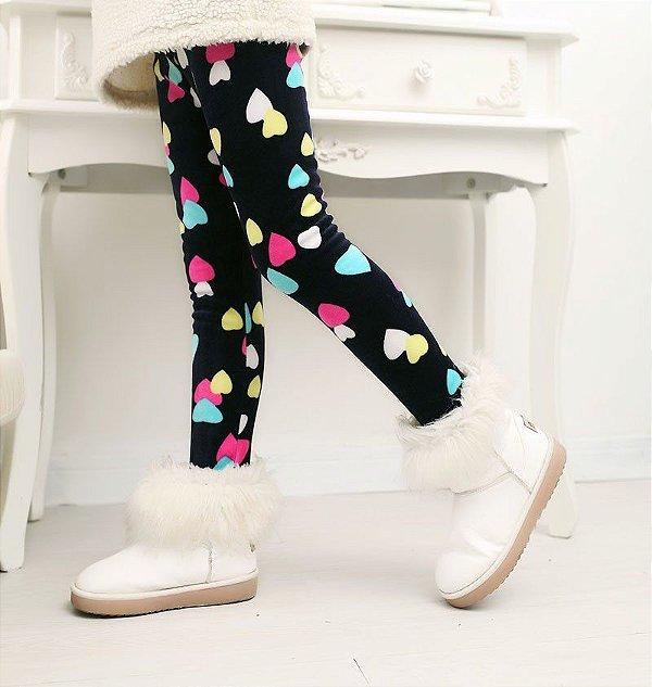 Legging Inverno Corações - 2 cores
