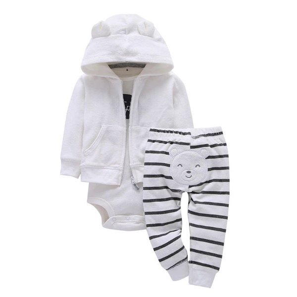 Conjunto Bodysuit Branco - 3 peças