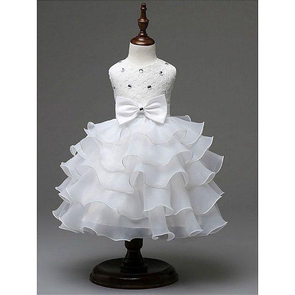 Vestido Rodado Princesa - 4 cores